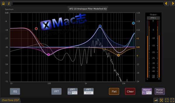 [Mac]图形化音频动态均衡器 : OverTone DSP AF2-10