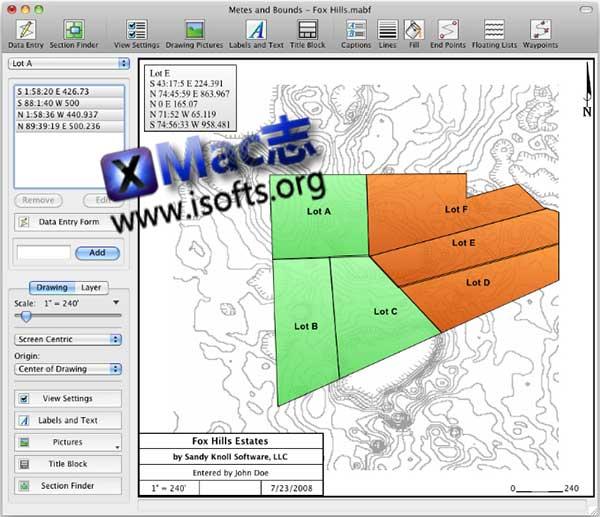 [Mac]计算平方英尺和面积的计算软件 : Metes and Bounds