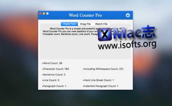 [Mac]字数统计工具 : Word Counter Pro