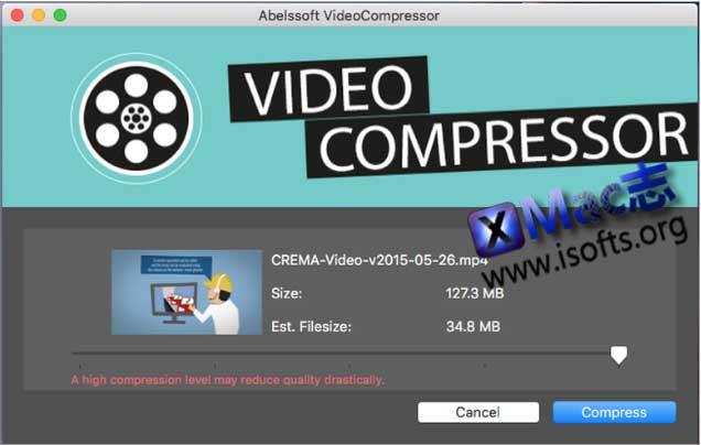 [Mac]视频压缩软件 : Abelssoft VideoCompressor