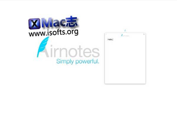 [Mac]简约的笔记本软件 : Airnotes