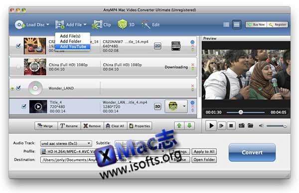 [Mac]万能视频转换工具 : AnyMP4 Mac Video Converter