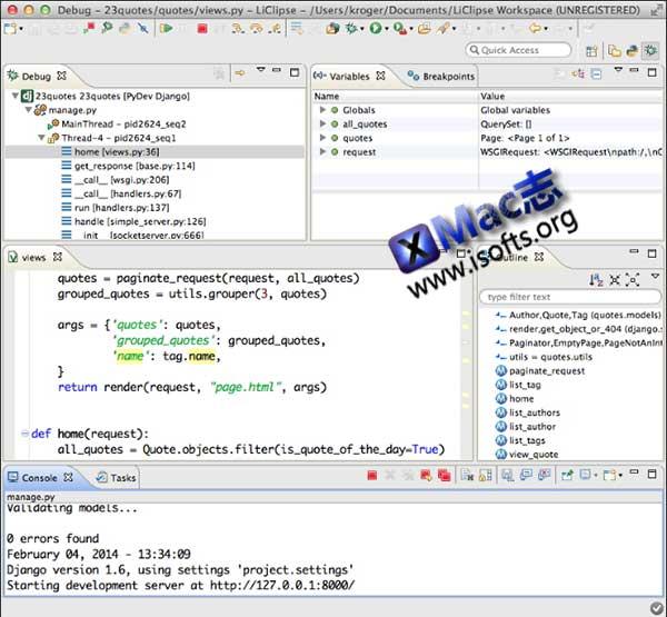 [Mac]多语言开发环境 : LiClipse