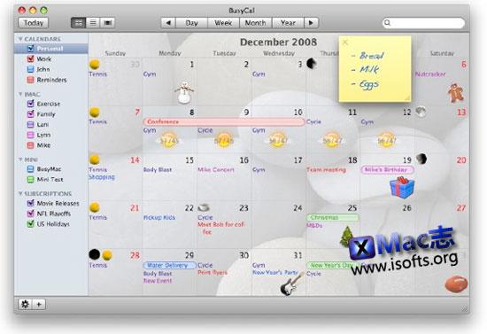 BusyCal : Mac平台的增强型iCal