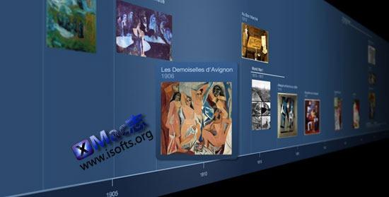 Timeline 3D for mac : Mac下漂亮的3D时间轴事件的工具