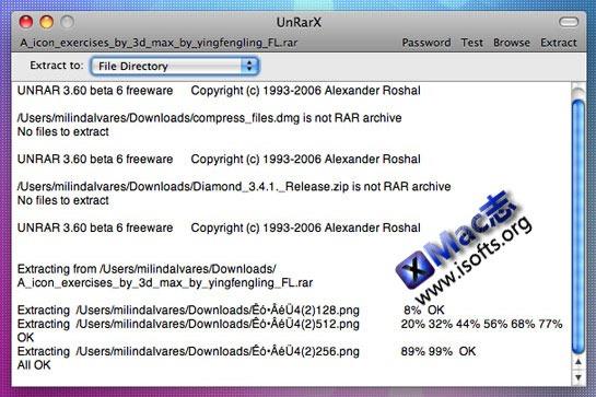 UnRarX : Mac平台简单易用的解压缩软件