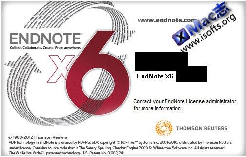 Endnote X6 for Mac大客户版