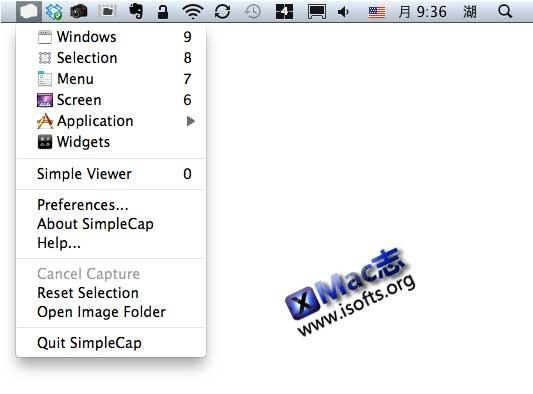 SimpleCap : Mac平台的免费截图软件