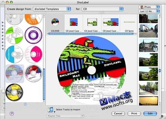 DiscLabel : Mac平台的CD/DVD光盘封面制作工具