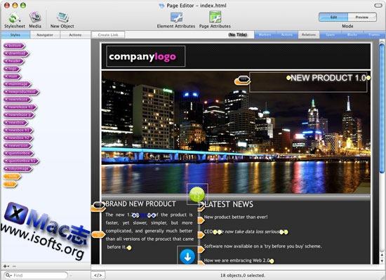 Flux : Mac平台强大的HTML5网站Web设计工具
