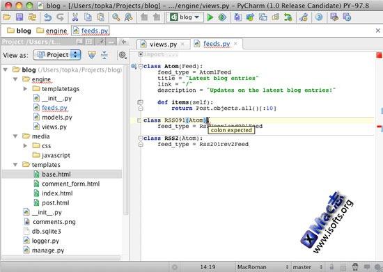 PyCharm for Mac : Mac平台的Python编辑利器