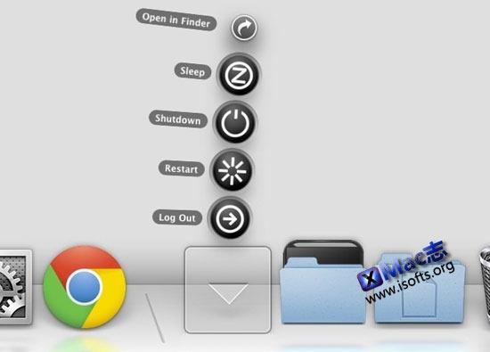 Functional : 在Mac OS X的Dock上增加关机/注销/休眠/重启功能按钮