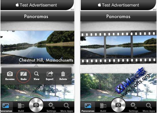 Panorama : iPhone全景拍摄软件