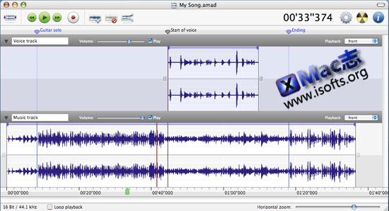 Amadeus Pro : Mac平台强大的多轨音频编辑器