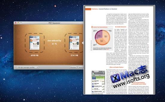 PDF Squeezer : Mac平台的PDF文件体积压缩工具