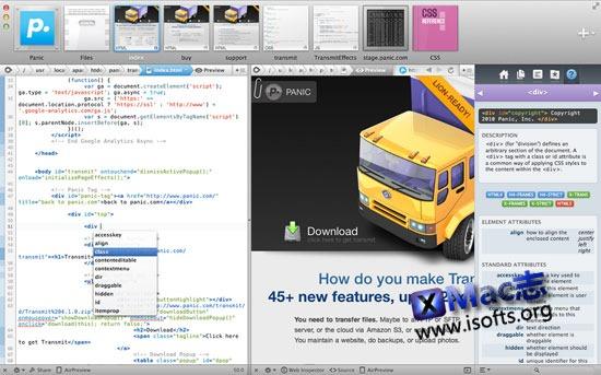 Coda : Mac平台的网页编程工具