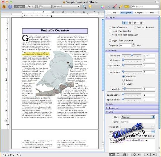 Growly Write : Mac平台优秀的写作和排版工具