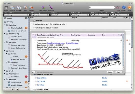 OmniFocus : Mac平台优秀的GTD软件