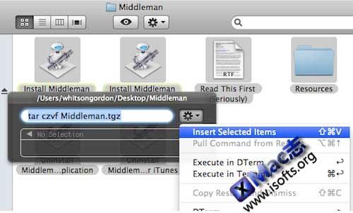 DTerm : Mac OS X下在当前目录下执行Terminal命令【免费】