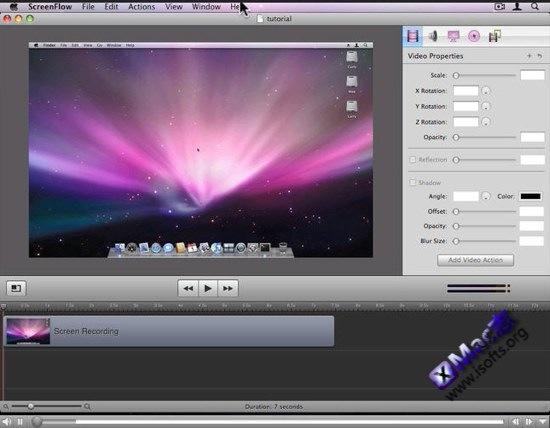 ScreenFlow : Mac平台的屏幕录像工具