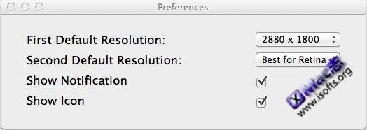 QuickRes : Mac平台的分辨率快速切换工具