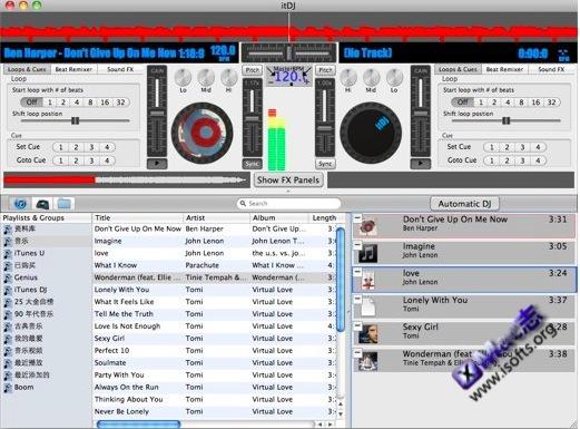 itDJ : Mac平台易上手的DJ软件
