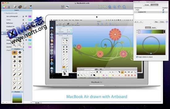Mac平台的矢量绘图工具 : Artboard