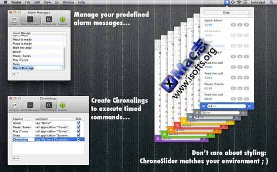 Mac平台的定时闹钟工具 : ChronoSlider