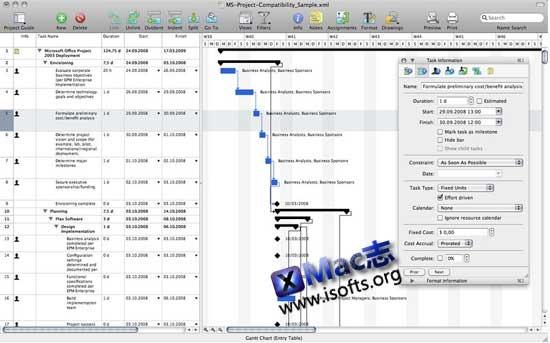 Mac平台的项目进程管理工具 : iTaskX