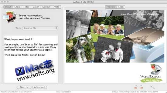 Mac平台的万能扫描仪驱动程序 : VueScan For Mac