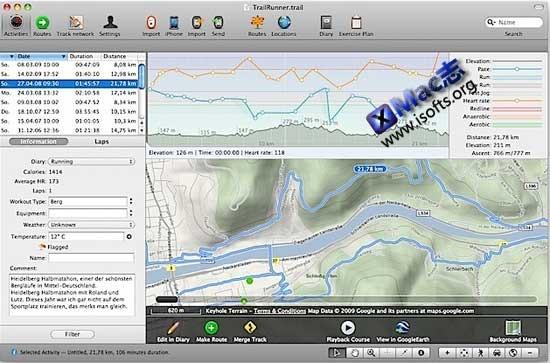 Mac平台的交通路线规划软件 : TrailRunner