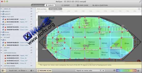 Mac平台的可视化Wi-Fi无线监测工具 : NetSpot