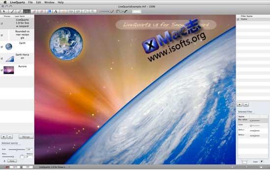 Mac平台专业的图像编辑工具 : LiveQuartz Photo Edit