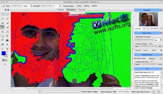 Mac平台的Photoshop抠图软件 : Fluid Mask