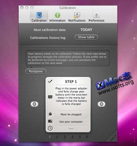 Mac平台的电池校准工具 : Watts