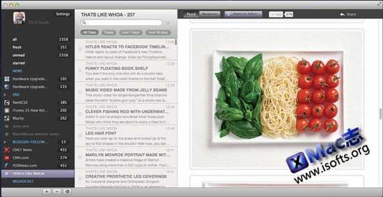 Mac平台的Google Reader阅读器客户端 : Cappuccino【免费】