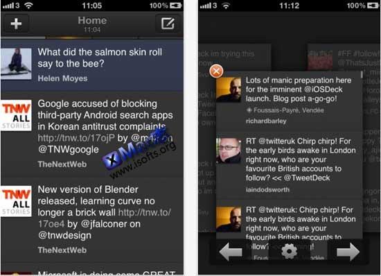 iPhone/iPad的twitter及facebook整合客户端 : TweetDeck for iPhone/iPad【免费】