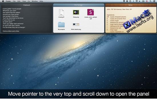Mac平台的类iOS下拉式菜单工具  : Unclutter