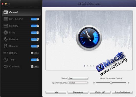 iStat Menus 4 : Mac系统状态监控软件