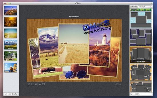Mac平台的图片照片拼贴编辑工具 : Choco