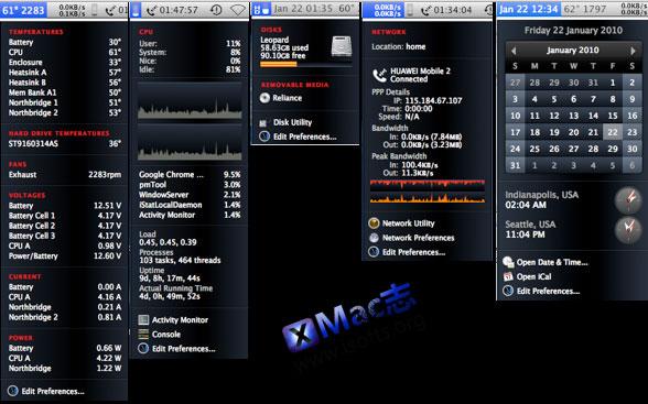 iStat Menus : Mac平台最好的菜单栏系统运行状态显示工具