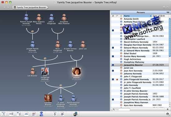 MacFamilyTree : Mac平台的家谱制作工具