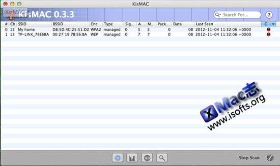 KisMAC : Mac平台的WIFI无线网络密码突破工具【免费】