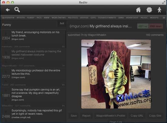 Reditr for Mac : Mac平台的Reddit客户端