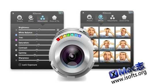 iGlasses : Mac平台的摄像头增强特效工具