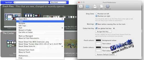 Fresh : Mac平台的免Finder快速查找定位使用文件的辅助工具