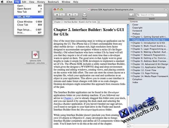 Mac平台的chm阅读器 : iChm for Mac