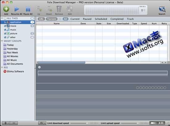 Mac平台超强的多线程下载工具 : Folx