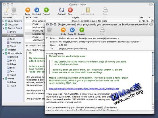 Mac平台开源的邮件处理客户端 : Thunderbird for Mac