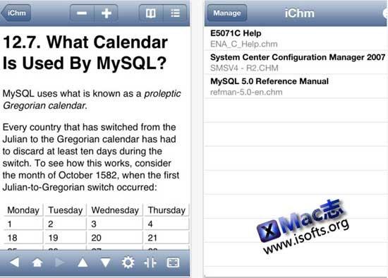 iPhone/iPad上的chm阅读器 : iChm for iPhone/iPad
